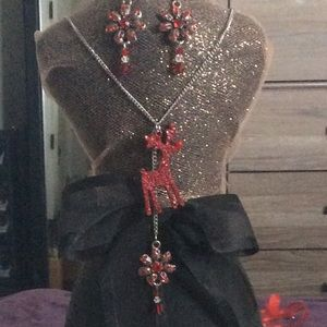 Rudolph Necklace & Earrings!